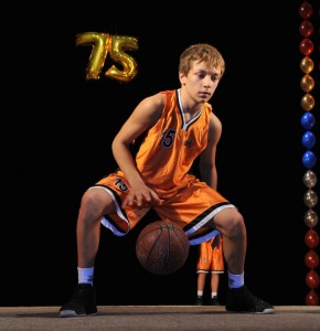 Баскетболист на сцене