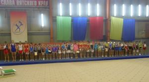 Парад на Первенстве Кировской области по прыжкам на акробатической дорожке