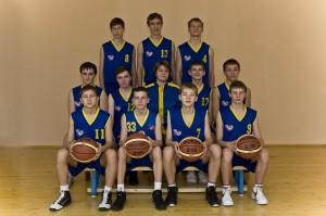 Команда юношей 1998 года рождения, тренер-преподаватель Михайлова Т.И.