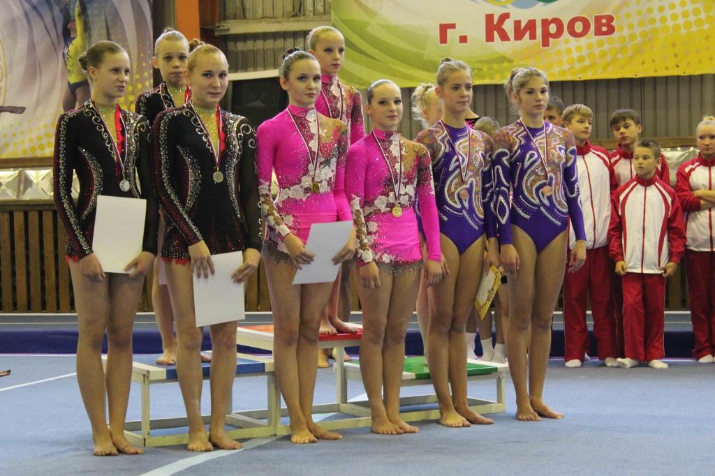 победители и призёры в женских группах